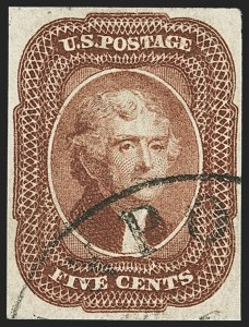 Sale Number 1166, Lot Number 606, 5c-12c 1851-56 Issue (Scott 12-17)5c Red Brown (12), 5c Red Brown (12)