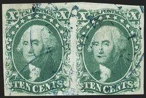 Sale Number 1166, Lot Number 618, 5c-12c 1851-56 Issue (Scott 12-17)10c Green, Ty. IV (16), 10c Green, Ty. IV (16)