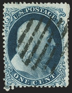 Sale Number 1166, Lot Number 622, 1857-60 Issue (Scott 18-39)1c Blue, Ty. Ia (19), 1c Blue, Ty. Ia (19)