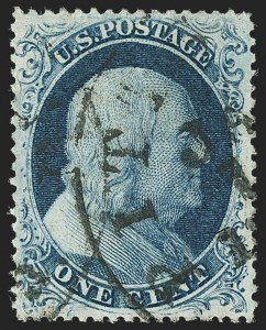 Sale Number 1166, Lot Number 626, 1857-60 Issue (Scott 18-39)1c Blue, Ty. III (21), 1c Blue, Ty. III (21)