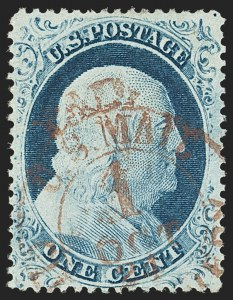 Sale Number 1166, Lot Number 630, 1857-60 Issue (Scott 18-39)1c Blue, Ty. IV (23), 1c Blue, Ty. IV (23)