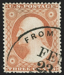 Sale Number 1166, Lot Number 634, 1857-60 Issue (Scott 18-39)3c Dull Red, Ty. III (26), 3c Dull Red, Ty. III (26)