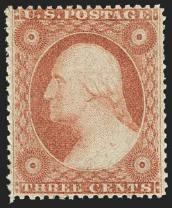 Sale Number 1166, Lot Number 635, 1857-60 Issue (Scott 18-39)3c Dull Red, Ty. IV (26A), 3c Dull Red, Ty. IV (26A)