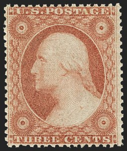 Sale Number 1166, Lot Number 636, 1857-60 Issue (Scott 18-39)3c Dull Red, Ty. IV (26A), 3c Dull Red, Ty. IV (26A)