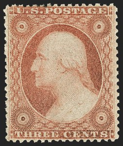 Sale Number 1166, Lot Number 637, 1857-60 Issue (Scott 18-39)3c Dull Red, Ty. IV (26A), 3c Dull Red, Ty. IV (26A)
