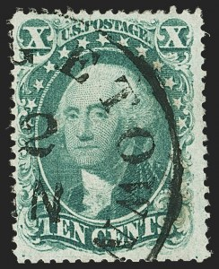 Sale Number 1166, Lot Number 646, 1857-60 Issue (Scott 18-39)10c Green, Ty. I (31), 10c Green, Ty. I (31)