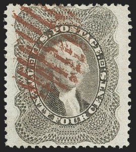 Sale Number 1166, Lot Number 649, 1857-60 Issue (Scott 18-39)24c Gray Lilac (37), 24c Gray Lilac (37)
