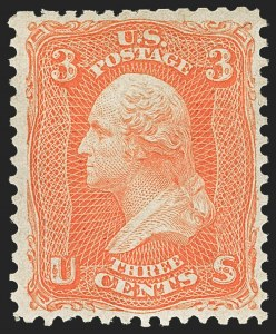 Sale Number 1166, Lot Number 678, 1861-66 Issue (Scott 56-78)3c Scarlet (74), 3c Scarlet (74)