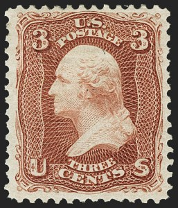 Sale Number 1166, Lot Number 716, 1875 Re-Issue of 1861-66 Issue (Scott 102-111)3c Brown Red, Re-Issue (104), 3c Brown Red, Re-Issue (104)