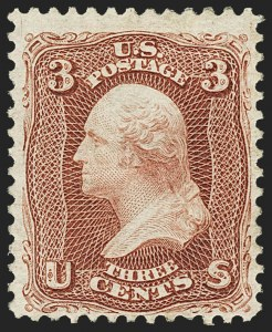Sale Number 1166, Lot Number 717, 1875 Re-Issue of 1861-66 Issue (Scott 102-111)3c Brown Red, Re-Issue (104), 3c Brown Red, Re-Issue (104)
