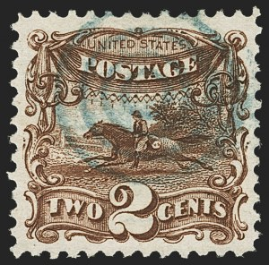 Sale Number 1166, Lot Number 735, 1869 Pictorial Issue (Scott 112-122)2c Brown (113), 2c Brown (113)