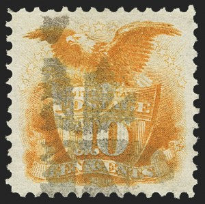 Sale Number 1166, Lot Number 741, 1869 Pictorial Issue (Scott 112-122)10c Yellow (116), 10c Yellow (116)