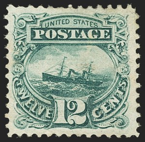 Sale Number 1166, Lot Number 742, 1869 Pictorial Issue (Scott 112-122)12c Green (117), 12c Green (117)