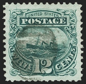 Sale Number 1166, Lot Number 743, 1869 Pictorial Issue (Scott 112-122)12c Green (117), 12c Green (117)