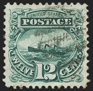 Sale Number 1166, Lot Number 744, 1869 Pictorial Issue (Scott 112-122)12c Green (117), 12c Green (117)