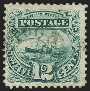 Sale Number 1166, Lot Number 746, 1869 Pictorial Issue (Scott 112-122)12c Green (117), 12c Green (117)