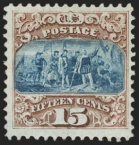 Sale Number 1166, Lot Number 747, 1869 Pictorial Issue (Scott 112-122)15c Brown & Blue, Ty. I (118), 15c Brown & Blue, Ty. I (118)