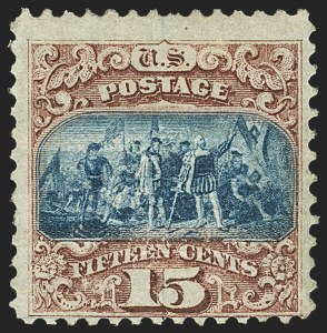 Sale Number 1166, Lot Number 748, 1869 Pictorial Issue (Scott 112-122)15c Brown & Blue, Ty. I (118), 15c Brown & Blue, Ty. I (118)