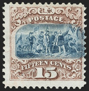 Sale Number 1166, Lot Number 749, 1869 Pictorial Issue (Scott 112-122)15c Brown & Blue, Ty. I (118), 15c Brown & Blue, Ty. I (118)
