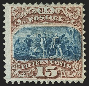Sale Number 1166, Lot Number 750, 1869 Pictorial Issue (Scott 112-122)15c Brown & Blue, Ty. I (118), 15c Brown & Blue, Ty. I (118)