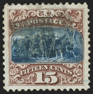 Sale Number 1166, Lot Number 751, 1869 Pictorial Issue (Scott 112-122)15c Brown & Blue, Ty. I (118), 15c Brown & Blue, Ty. I (118)