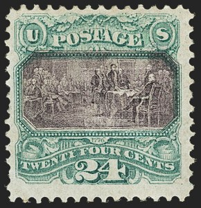 Sale Number 1166, Lot Number 752, 1869 Pictorial Issue (Scott 112-122)24c Green & Violet (120), 24c Green & Violet (120)