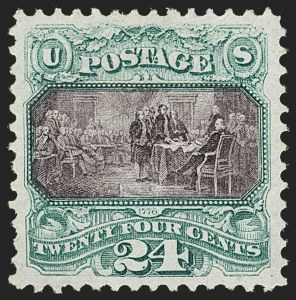 Sale Number 1166, Lot Number 753, 1869 Pictorial Issue (Scott 112-122)24c Green & Violet (120), 24c Green & Violet (120)