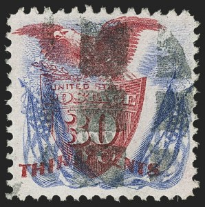 Sale Number 1166, Lot Number 755, 1869 Pictorial Issue (Scott 112-122)30c Ultramarine & Carmine (121), 30c Ultramarine & Carmine (121)