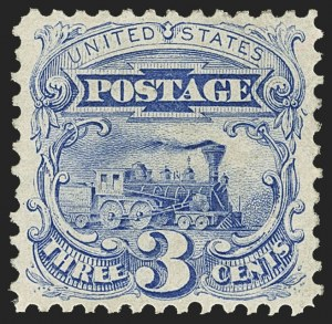 Sale Number 1166, Lot Number 763, 1875 Re-Issue of 1869 Pictorial Issue (Scott 123-133a)3c Blue, Re-Issue (125), 3c Blue, Re-Issue (125)