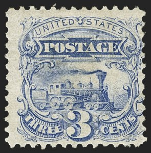 Sale Number 1166, Lot Number 764, 1875 Re-Issue of 1869 Pictorial Issue (Scott 123-133a)3c Blue, Re-Issue (125), 3c Blue, Re-Issue (125)
