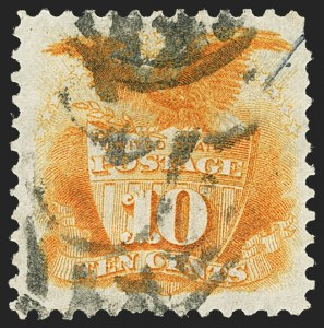 Sale Number 1166, Lot Number 765, 1875 Re-Issue of 1869 Pictorial Issue (Scott 123-133a)10c Yellow, Re-Issue (127), 10c Yellow, Re-Issue (127)