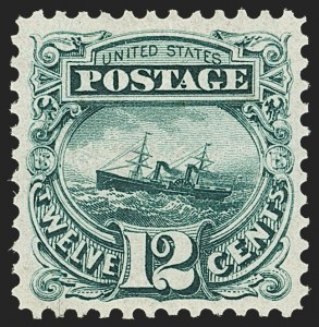 Sale Number 1166, Lot Number 766, 1875 Re-Issue of 1869 Pictorial Issue (Scott 123-133a)12c Green, Re-Issue (128), 12c Green, Re-Issue (128)
