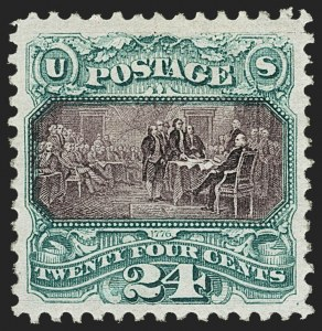 Sale Number 1166, Lot Number 770, 1875 Re-Issue of 1869 Pictorial Issue (Scott 123-133a)24c Green & Violet, Re-Issue (130), 24c Green & Violet, Re-Issue (130)