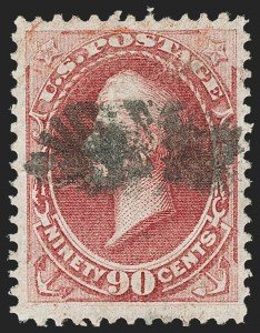 Sale Number 1166, Lot Number 780, 1870-73 National and Continental Bank Note Co. Issues (Scott 134-166)90c Carmine, H. Grill (144), 90c Carmine, H. Grill (144)