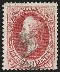Sale Number 1166, Lot Number 781, 1870-73 National and Continental Bank Note Co. Issues (Scott 134-166)90c Carmine, H. Grill (144), 90c Carmine, H. Grill (144)
