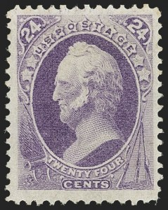 Sale Number 1166, Lot Number 783, 1870-73 National and Continental Bank Note Co. Issues (Scott 134-166)24c Purple (153), 24c Purple (153)