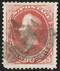Sale Number 1166, Lot Number 789, 1870-73 National and Continental Bank Note Co. Issues (Scott 134-166)90c Rose Carmine (166), 90c Rose Carmine (166)