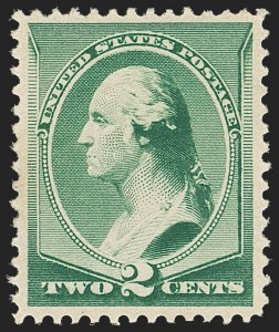 Sale Number 1166, Lot Number 810, 1875-88 Bank Note Co. Issues (Scott 178-218)2c Green (213), 2c Green (213)