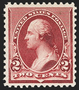 Sale Number 1166, Lot Number 815, 1890-93 Issue (Scott 219-229)2c Lake (219D), 2c Lake (219D)