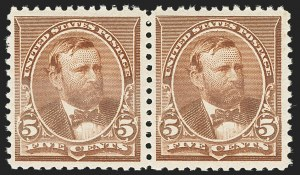 Sale Number 1166, Lot Number 817, 1890-93 Issue (Scott 219-229)5c Chocolate (223), 5c Chocolate (223)