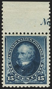 Sale Number 1166, Lot Number 819, 1890-93 Issue (Scott 219-229)15c Indigo (227), 15c Indigo (227)