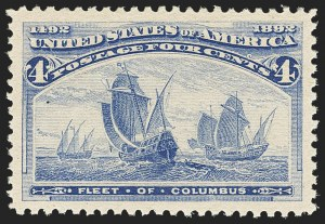 Sale Number 1166, Lot Number 829, 1893 Columbian Issue (Scott 230-245)4c Columbian (233), 4c Columbian (233)