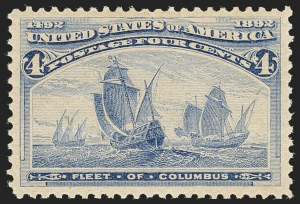 Sale Number 1166, Lot Number 830, 1893 Columbian Issue (Scott 230-245)4c Columbian (233), 4c Columbian (233)