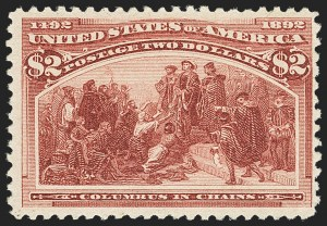 Sale Number 1166, Lot Number 843, 1893 Columbian Issue (Scott 230-245)$2.00 Columbian (242), $2.00 Columbian (242)