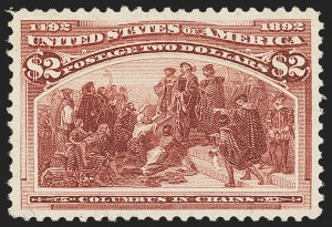 Sale Number 1166, Lot Number 845, 1893 Columbian Issue (Scott 230-245)$2.00 Columbian (242), $2.00 Columbian (242)