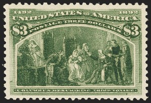 Sale Number 1166, Lot Number 846, 1893 Columbian Issue (Scott 230-245)$3.00 Columbian (243), $3.00 Columbian (243)