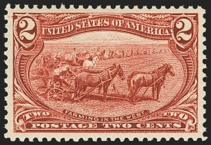 Sale Number 1166, Lot Number 882, 1898 Trans-Mississippi Issue (Scott 285-293)2c Trans-Mississippi (286), 2c Trans-Mississippi (286)