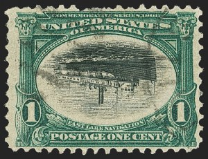 Sale Number 1166, Lot Number 902, 1901 Pan-American Issue (Scott 294-299)1c Pan-American, Center Inverted (294a), 1c Pan-American, Center Inverted (294a)