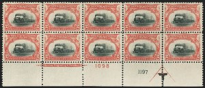 Sale Number 1166, Lot Number 907, 1901 Pan-American Issue (Scott 294-299)2c Pan-American (295), 2c Pan-American (295)
