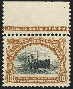 Sale Number 1166, Lot Number 909, 1901 Pan-American Issue (Scott 294-299)10c Pan-American (299), 10c Pan-American (299)